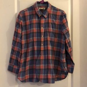 Madewell Rivet & Thread long sleeve plaid top. L